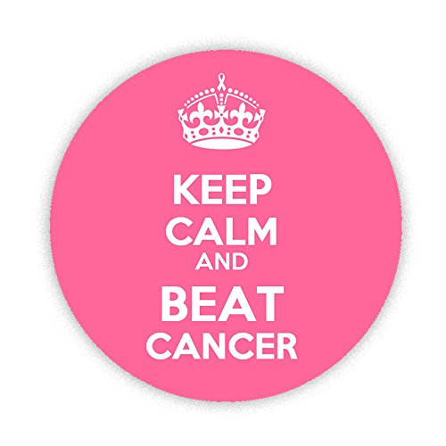 Price comparison product image KEEP CALM and BEAT CANCER Button Badge 38mm Small Pinback Pin Back Lapel Novelty Gift