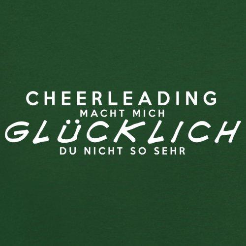 Cheerleading macht mich glücklich - Herren T-Shirt - 13 Farben Flaschengrün