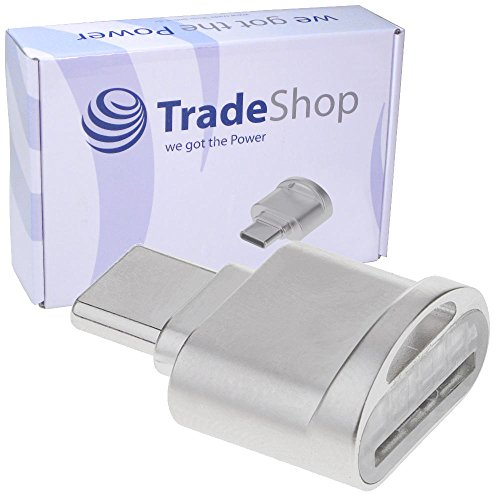 USB 3.1 Typ C Micro SD Card Reader Karten Leser Lesegerät Kartenleser OTG Adapter für ASUS Zenbook 3 Deluxe UX490UA Pro UX501VW UX550VD, Dell Alienware 13 R3 15 R3 17 R4 Inspiron 15 7000 7370 Precision 15 5510 7510 5520 M7710 - Alienware Speicherkarte