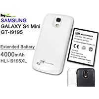 Samsung Galaxy S4 Mini LTE i9195 / Sprint SPH-L520 / S4 Mini i257 Mugen Power - 4000mAh Extended Battery with Black Color cover (NFC Supported) **Only Suit for S4 Mini LTE Version**