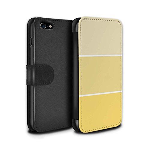 Stuff4 Coque/Etui/Housse Cuir PU Case/Cover pour Apple iPhone 8 / Pack 10pcs Design / Tons de Couleur Pastel Collection Jaune
