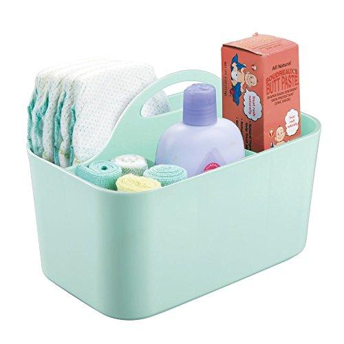 mDesign Baby Organizer - Aufbewahrung für Spielzeug, Shampoo, Thermometer, Puder, Lotion - mintfarben - Baby-shampoo-lotion