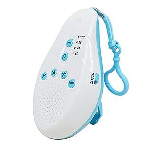 Decdeal Weißes Rauschen Maschine mit 8 Beruhigenden Sounds, Sprachaufnehmen, Sprachsensor und Timer Option