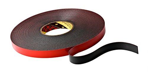 Preisvergleich Produktbild 3M VHB 5925 Hochleistungs-Klebeband,  19 mm x 33 m,  Schwarz,  Schutzabdeckung: Folie (4-er Pack)