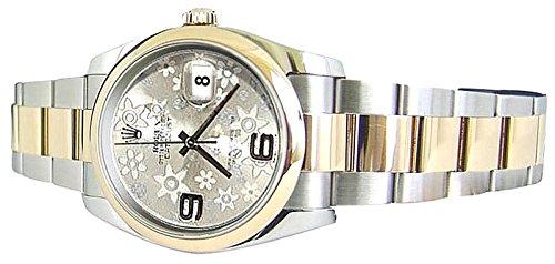Orologio Rolex Datejust bracciale oyster SS & fiore d'oro quadrante