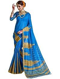 Samskruti Sarees Raw Silk Saree (Sleesa-110_Blue)