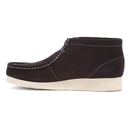 Clarks  Padmore II, bottes chelsea homme 07661-DARK NAVY BLUE SUEDE