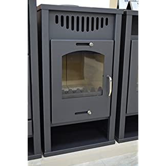 Estufa de leña con caldera integral, chimenea de combustible sólido para calefacción central de madera, carbones de 12/17 kW