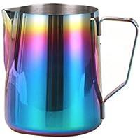 Rainbow Colorful Espresso para leche jarra de acero inoxidable