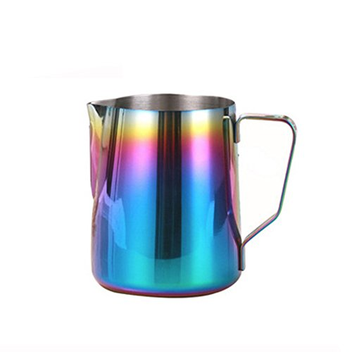 Rainbow Colourful Stainless Steel Espresso Milk Frothing Pitcher