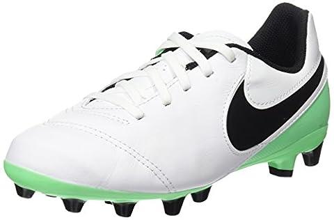 Nike Unisex-Kinder Jr Tiempo Legend VI AG-Pro Fußballschuhe, Weiß (White/Black-Electro Green), 34 EU