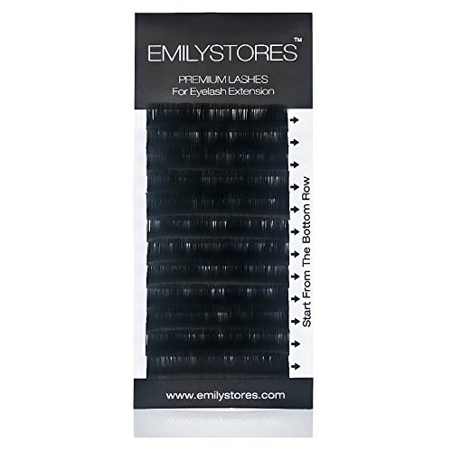 EMILYSTORES Eyelash Extensions Individual Loose Signature Mink Eyelash C Curl Thickness 0.25mm Length 8mm 9mm 10mm 12mm 14mm Silk Lashes Assort Mixed In One Tray by EMILYSTORES