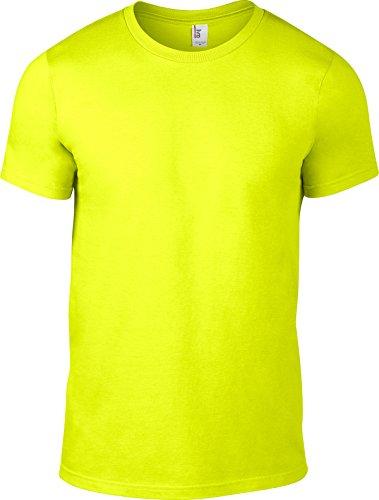 Anvil Herren T-Shirt Neon Gelb