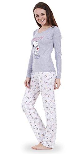 f5f15c19 Snoopy - Conjunto de pijama Snoopy de manga larga para mujer Pijama ...