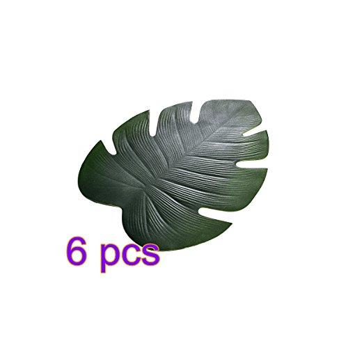 lulalula Tisch-Sets Tisch-Teppiche, rutschfeste Wärmedämmung Wasserdicht Eva Tisch Tisch-Sets Set für Esstisch öldicht Platzmatten, 6(Tropical Palm Leaf), Ethylenvinylacetat, Tropical Palm Leaf, 6 Pcs