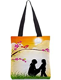 Snoogg Tote Bag 13.5 X 15 Inches Shopping Utility Tote Bag Made From Polyester Canvas - B01GCIKLHU