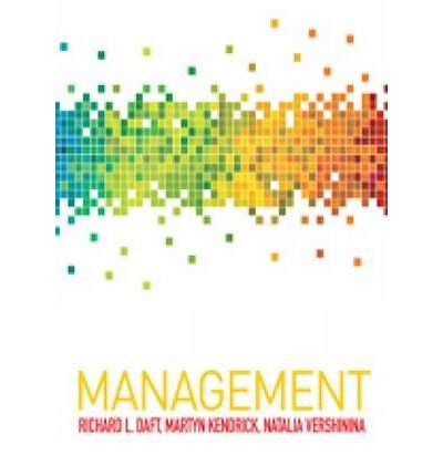 [(Management)] [ By (author) Richard L. Daft, By (author) Martyn Kendrick, By (author) Natalia Vershinina ] [May, 2010]