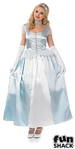 Fun Shack Damen Costume Kostüm Womens Blue Princess Gown, ()