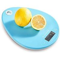Bonsenkitchen Balance De Cuisine Électronique numérique pour la Cuisine avec des Boutons tactiles, Multifonction, Capteur Haute précision, Bleu (KS8801)