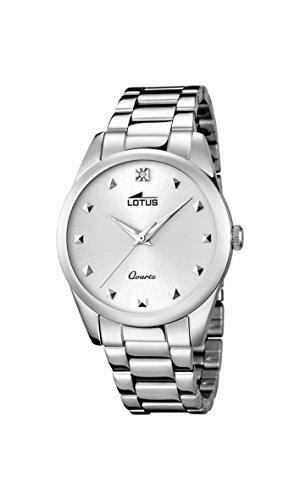 Lotus 18142/1 – Reloj de pulsera Mujer, Acero inoxidable, color Plateado