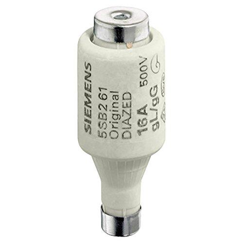 Siemens 5sb261DIAZED-Sicherungseinsatz 500V f. Kabel und Line Schutz OP. CL. Gewinde GL, SZ. DII, E27,16A, weiß -