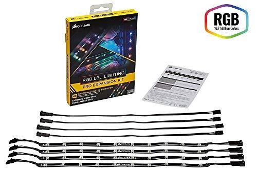 Corsair CL-8930002 RGB LED Lighting PRO-Erweiterungskit (mit 4 x RGB-LED-Beleuchtungsstreifen)