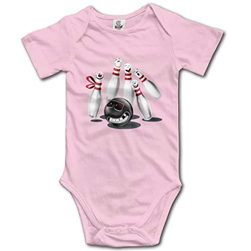 Klotr Unisex Baby Body Kurzarm Bowling Newborn Bodysuits Baumwolle Strampler Outfit Set