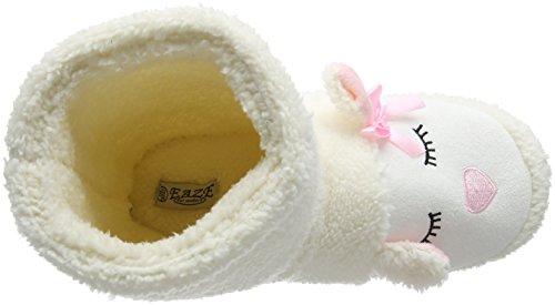 Eaze - White Lamb Boot, Pantofole Donna Bianco (Bianco (White))
