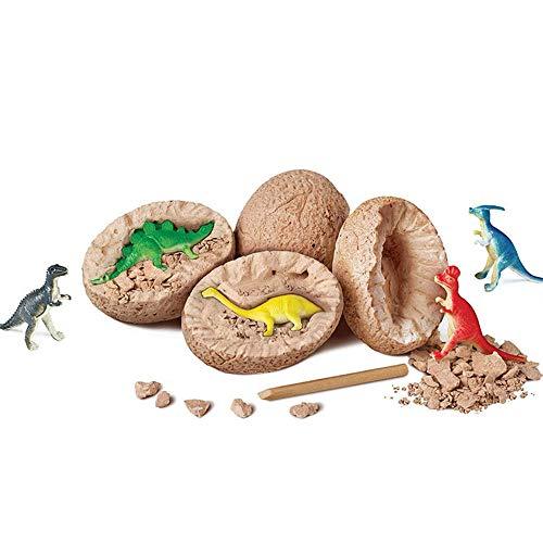 Geggur 3D Dinosaurier-Ei-Grab-Set,Mini Dinosaurier Dig Toys,Dino-Fossil-Ausgrabungs-Set Mit T. Rex,Spinosaurus,Triceratops, Für Archäologie Und Paläo Ntologie Und Kinder,1 Packung(zufällig)