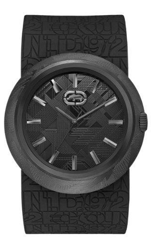 Marc Ecko E12519G1 - Reloj de pulsera para hombre, negro/plata