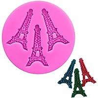 UU19EE Cocina Torre Eiffel Paris Molde Fondant de Silicona para Decoración de Pasteles Gumpaste Molde de