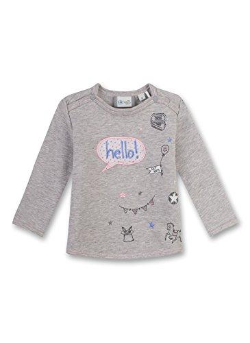 Sanetta Baby-Mädchen Sweatshirt 114049, Grau (Stone Mel. 1786), 74 (Baby Sweatshirts Mädchen)
