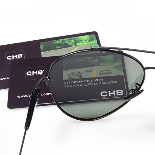c49e123f170 CHB Aviator Style Sunglasses Men s Polarized With Case Light ...