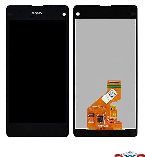 Sws display completo, LCD touch originale) di ricambio per SONY XPERIA Z1 MINI COMPACT Z1c M51w D5503 (nero)
