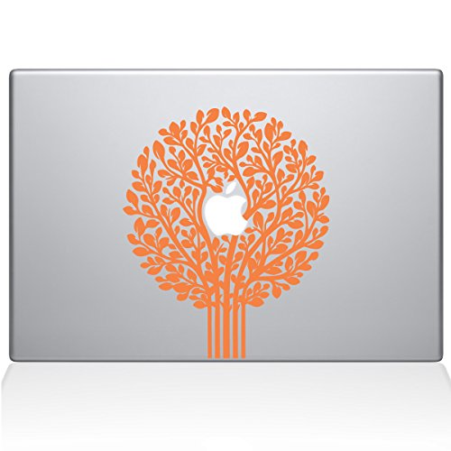 Die Aufkleber Guru 2064-mac-13a-p Baum des Lebens Formschnitt Aufkleber Vinyl Aufkleber, 33cm MacBook Air, Orange - Mac Decal Baum