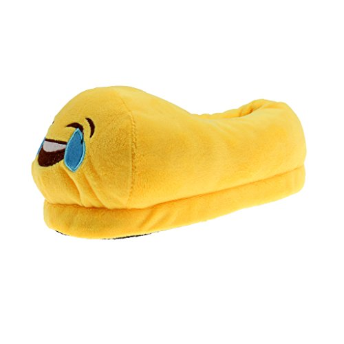 Phenovo Trendy LOL Emoji Plush Warm Slippers Unisex Cozy Anti-Slip Home Shoes Kid/20 cm