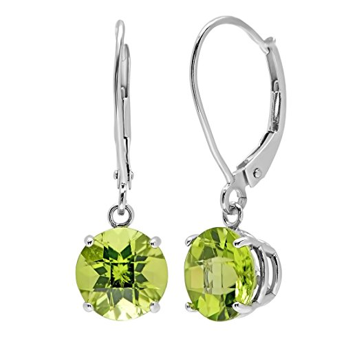 amanda-rose-collection-womens-10k-white-gold-checkerboard-peridot-lever-back-earrings