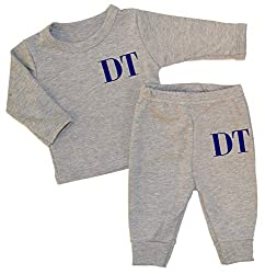 Personalised Initials Baby Luxury Lounge Set Full Colour Baby Wear Personalised Newborn Baby Sets