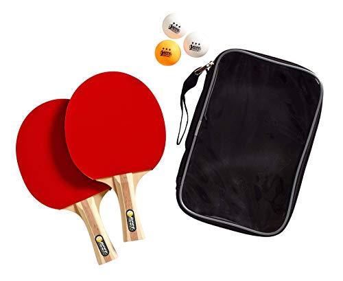 Best Sporting Tischtennisset 2 Tischtennisschläger 3 Bälle und Tasche