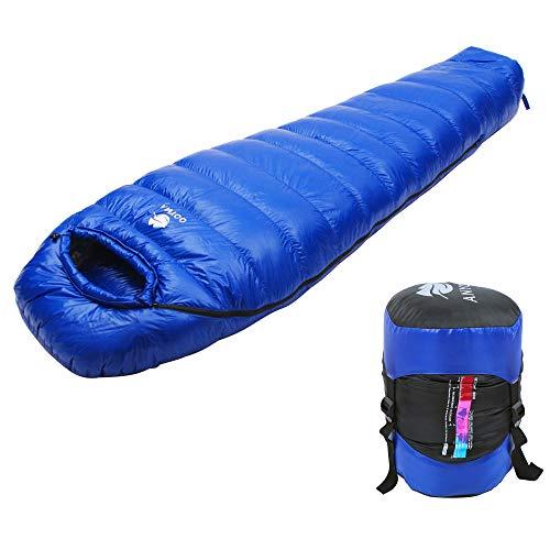 Anyoo Gänsedaunen Schlafsack Lightweight Portable Camping im Freien Compression Sack enthalten -
