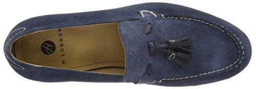 Hudson London Herren Bernini Suede Navy Slipper Blau (Navy)