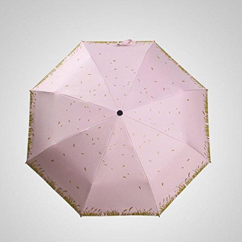 SBBCW Land Kleine Frische Regen Oder Sonnenschein Südkorea Kreativ Sonne UV-Schutz Sonnenschutz Schön Dame Regenschirm,A