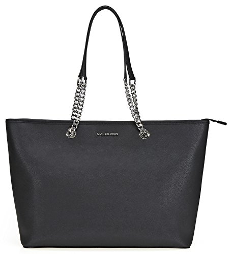 Michael Kors Jet Set Saffiano Leather - Tote - Black - - Handtaschen Tote-michael Kors