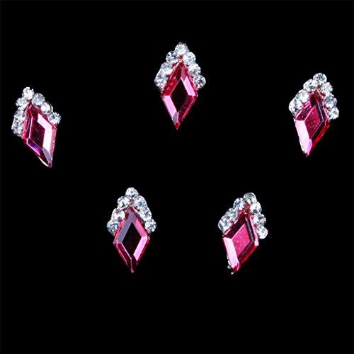 10pcs/set Nagelspitze Dekorationen, Nagelschmuck für Nagelkunst / Maniküre, Nail Art Nagelsticker für zu Hause DIY / Nagelstudio oder als Handy, Handtasche Deko, Reizvoll und Schön - Style3 Rot