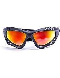 Ocean Sunglasses Venezia - lunettes de soleil polarisées - Monture : Noir Mat - Verres : Revo Bleu (3101.0 A)