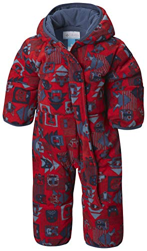 Columbia Schneeanzug für Kinder, Snuggly Bunny Bunting, Polyester, rot (red spark critter/dark mtn), Gr. 18/24 Monate, 1516331