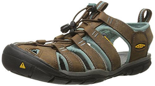 Keen Clearwater CNX Leather Women's Sandal De Marche - SS15 brown
