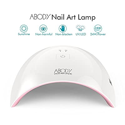Abody SUN9C 24W LED UV Lamp Nail Dryer Nail Lamp Curing for Shellac and other LED UV Nail Gel White Light Nail Art Painting Salon Tools for Fingernail & Toenail from Abody