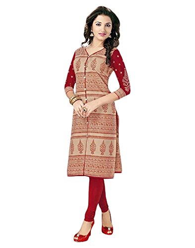 Jevi Prints Women's Dress Material (PRJ-105_Beige_Free Size)