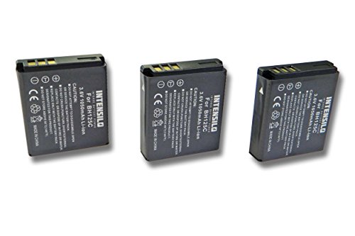 INTENSILO 3x Li-Ion Akku 1050mAh (3.6V) für Kamera Camcorder Video Kodak Pixpro SP360 4K wie Kodak LB-080.